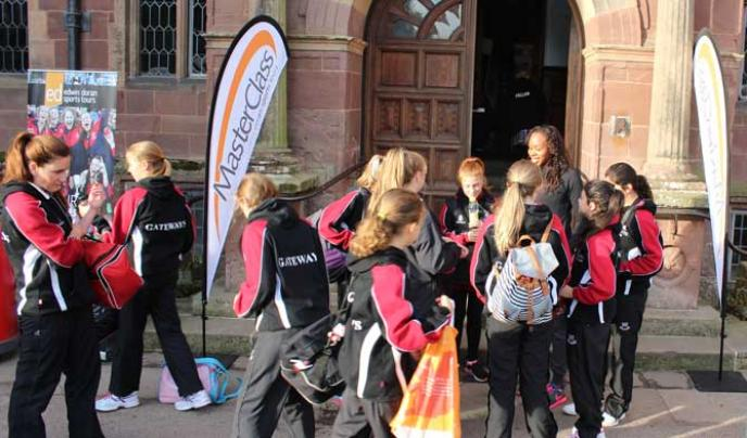 Gateways School arriving at the GSA netball weekend