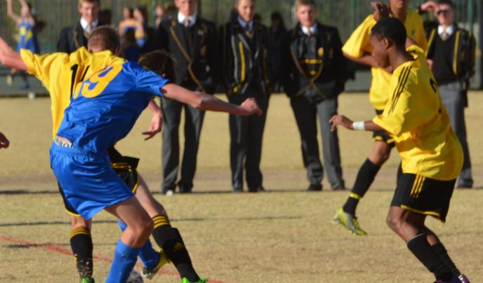Northcote College, New Zealand putting in the tackles