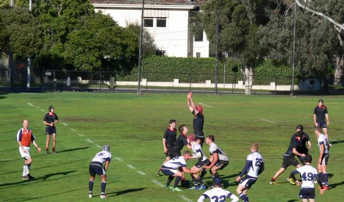 Students playing rugby in Australia.