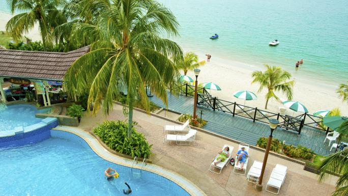 Unwind at the Flamingo Hotel by the Beach in Penang.