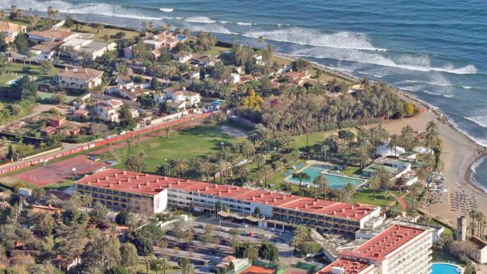 Stay at the Atalaya Park Golf Hotel and Resort and enjoy a beach view.
