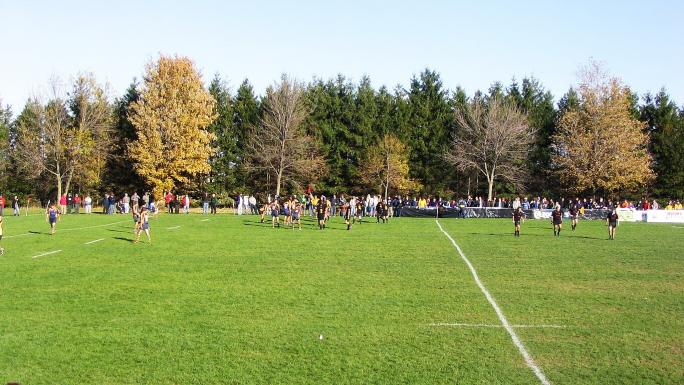 Fletchers Fields, Ontario, has six rugby fields and a grandstand.