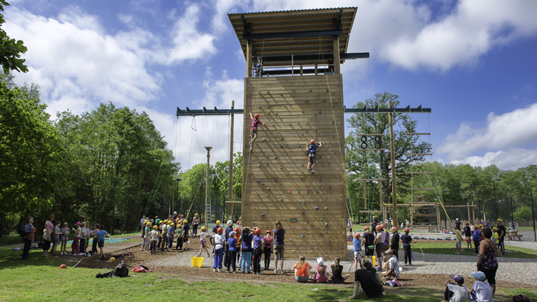 Condover Hall high ropes course