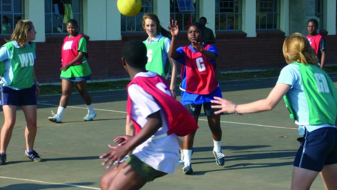 Trinidad and Tobago control the ball as the teams battle it out.