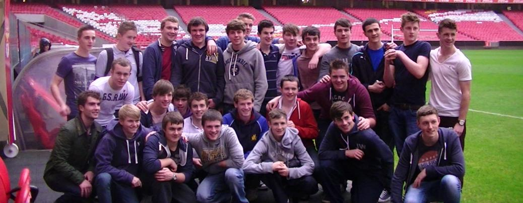 Ashfield School from Nottinghamshire before for the big game.