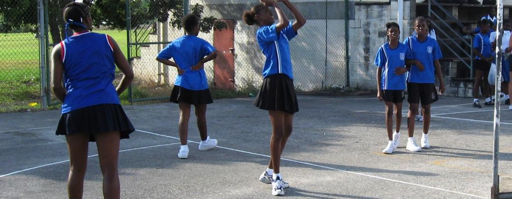 A local team in St Lucia hard at play.