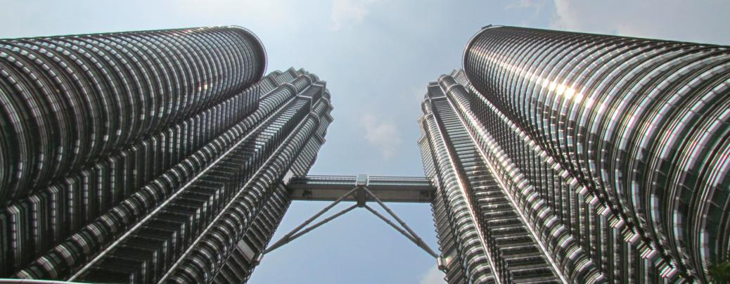 Enjoy breathtaking views of Kuala Lumpur from the Petronas Towers.