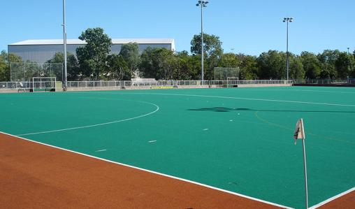 An AstroTurf pitch at the Australian Institute of Sport.