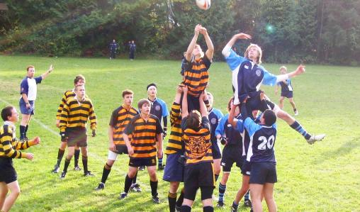 Action between Ibstock Place School from London and local team Capilano.