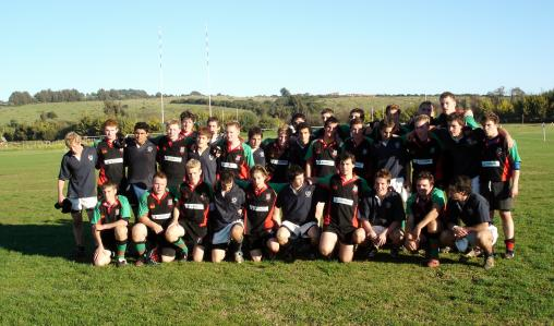 Students rugby team photo, Argentina.