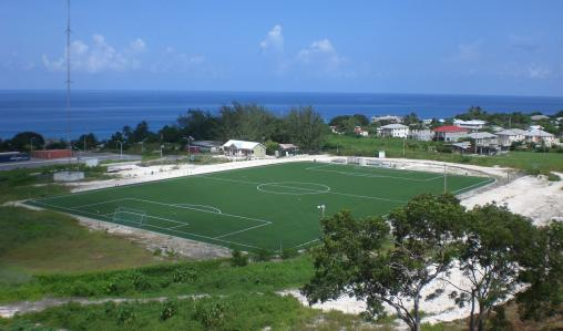 Play at the University of the West Indies' picturesque pitch.