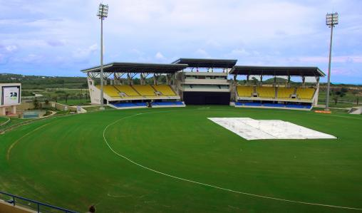 Play at Sir Vivian Richards Stadium in North Sound, Antigua.