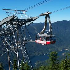 Take a cable car ride to the top of Grouse Mountain for great views of the city and Vancouver Island.