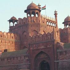 The imposing Red Fort.