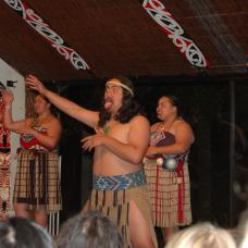 Take part in a traditional Maori feast and see a cultural show at this village in Rotorua forest.