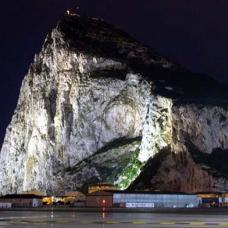 Gibraltar rock by night