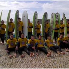 Visit the vast sandy stretch of Carcavelos Beach for a morning surfing lesson in the Atlantic Ocean.