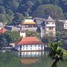 This sacred Buddhist temple, where monks worship daily, is said to contain the tooth of Lord Buddha.