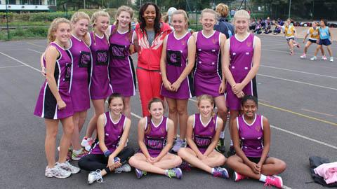 Bedford Girls' School with Pamela Cookey and the GSA netball tournament