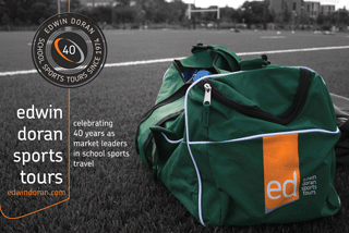 Edwin Doran Sports Tours celebrating 40 Years at the market leaders in School Sports Travel