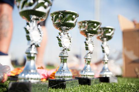 Trophies at the end of tournament presentations