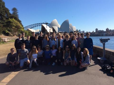 Burford School Football and Netball teams on an Edwin Doran Sports Tour to Australia